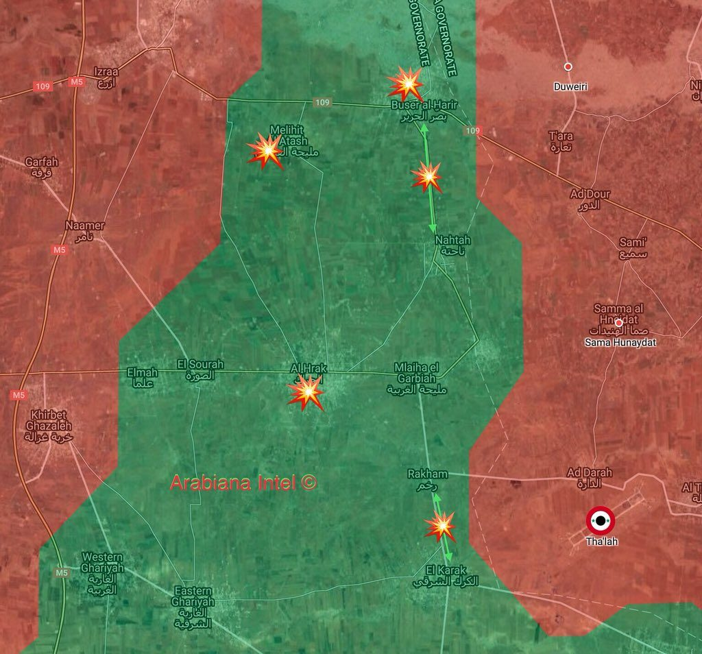 Government Forces Attack Militants' Supply Lines In Eastern Daraa (Map)