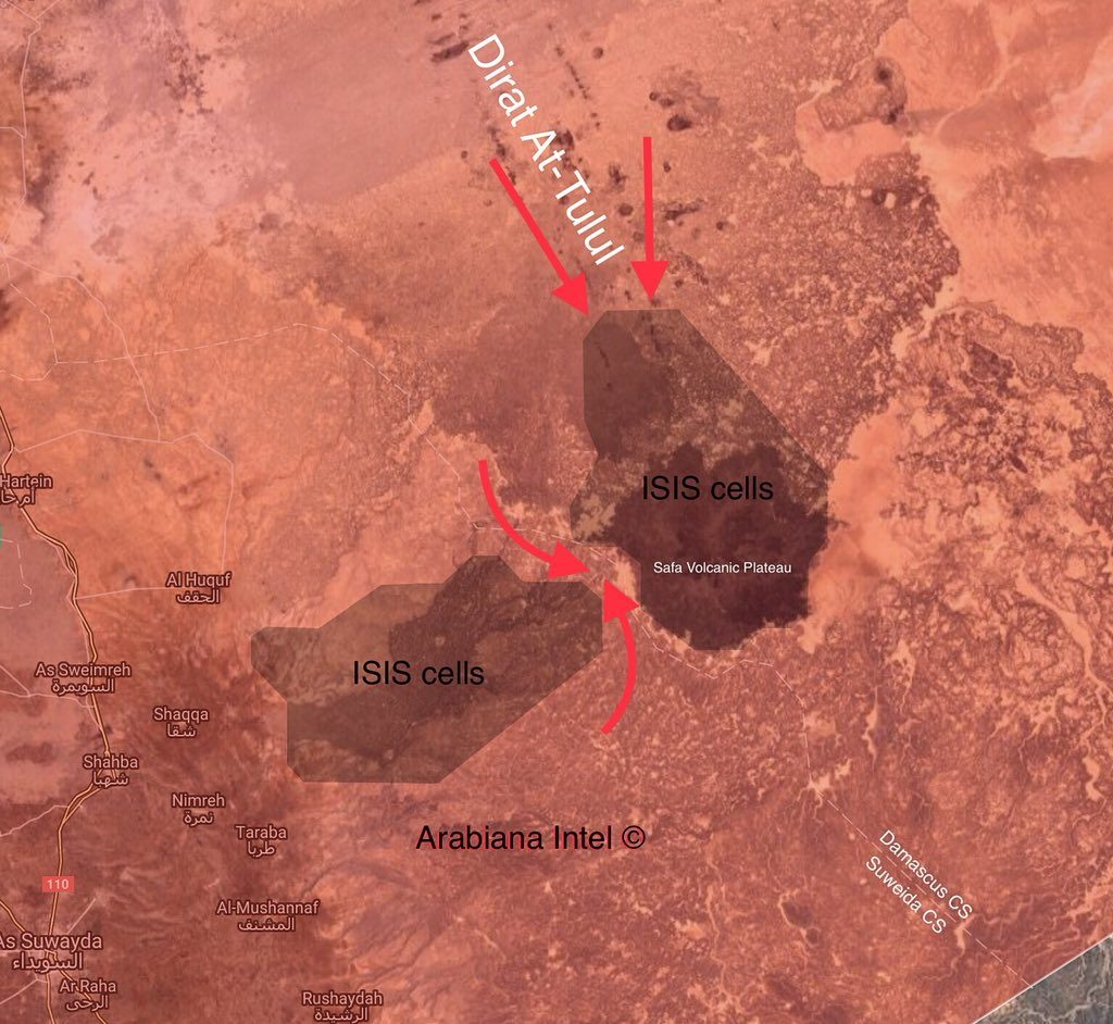In Maps: Syrain Government Forces' Progress Against ISIS Cells In Eastern Al-Suwayda