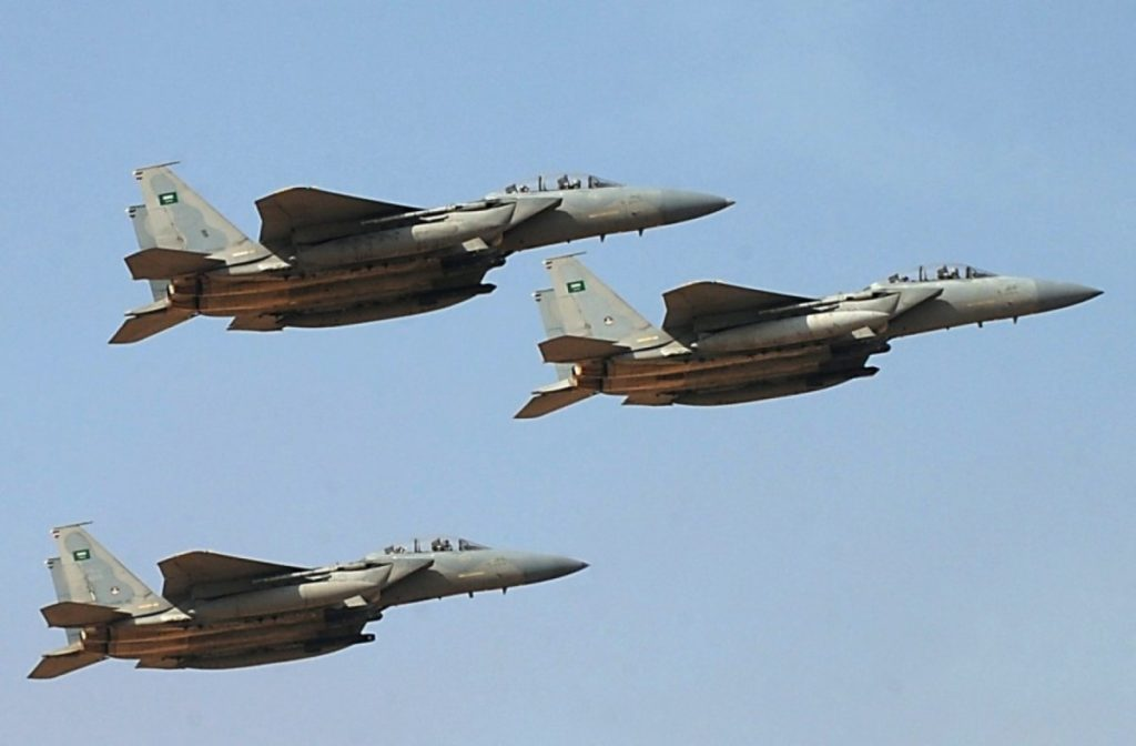 Saudi-led Coalition Warplanes Bomb Houthi Positions In al-Hudaydah. More Than 100 Houthi Fighters Killed