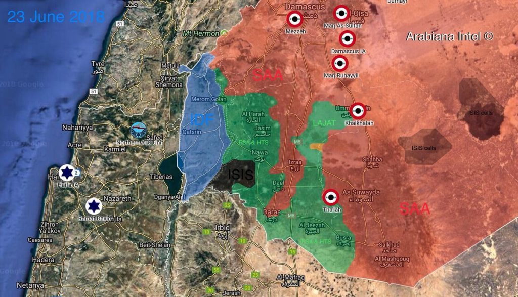 Map Update: Military Situation In Southern Syria Following Recent Advances By Government Forces