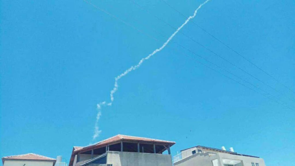 Israel's Patriot Air Defense System Launches Missile At UAV Near Contanct Line With Syria