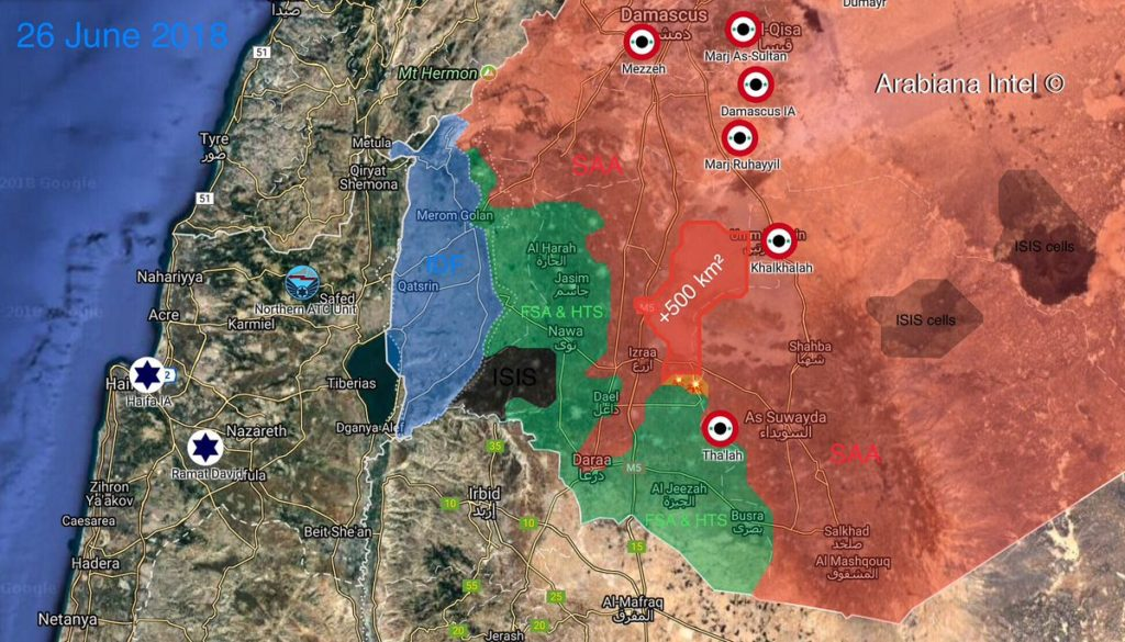 Tiger Forces Develop Their Advance In Southern Syria Towards al-Hirak and Nahita