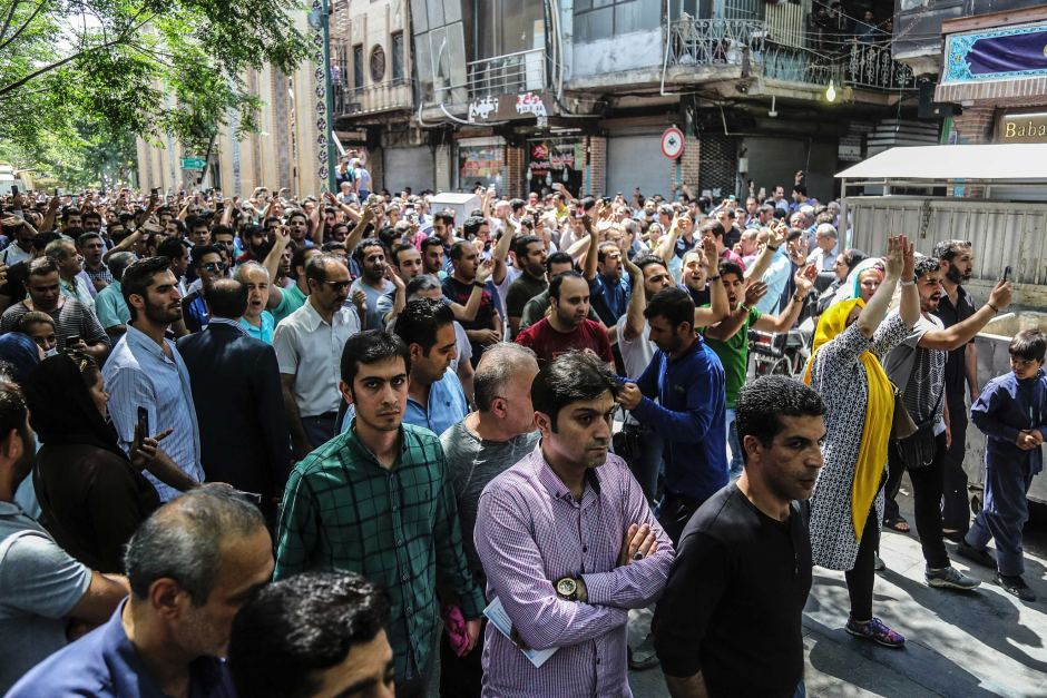Large Economic Protests Take Place In Iran