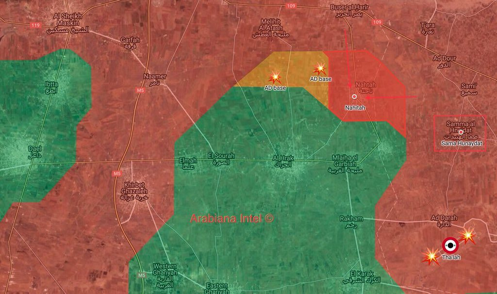 Tiger Forces Take Control Of Nahitah Village Northeast Of Daraa City (Map)