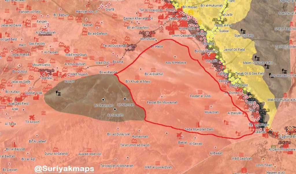 Map Update: Government Forces Secured Over 5,200km2 Of Deir Ezzor Desert From ISIS