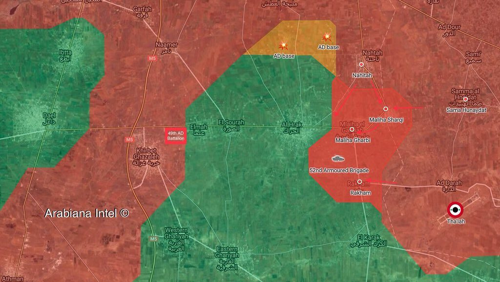 Tiger Forces Capture New Positions Around Al-Harak, Opens Humanitarian Corridor In Southern Syria (Map, Video)