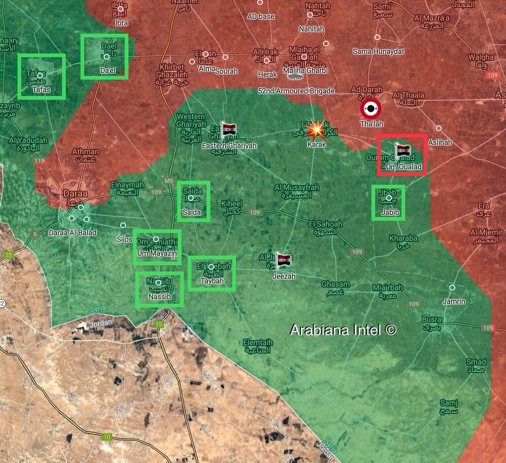 Map Update: 7 Settlements In Southern Syria Accept Reconciliation Agreement With Damascus