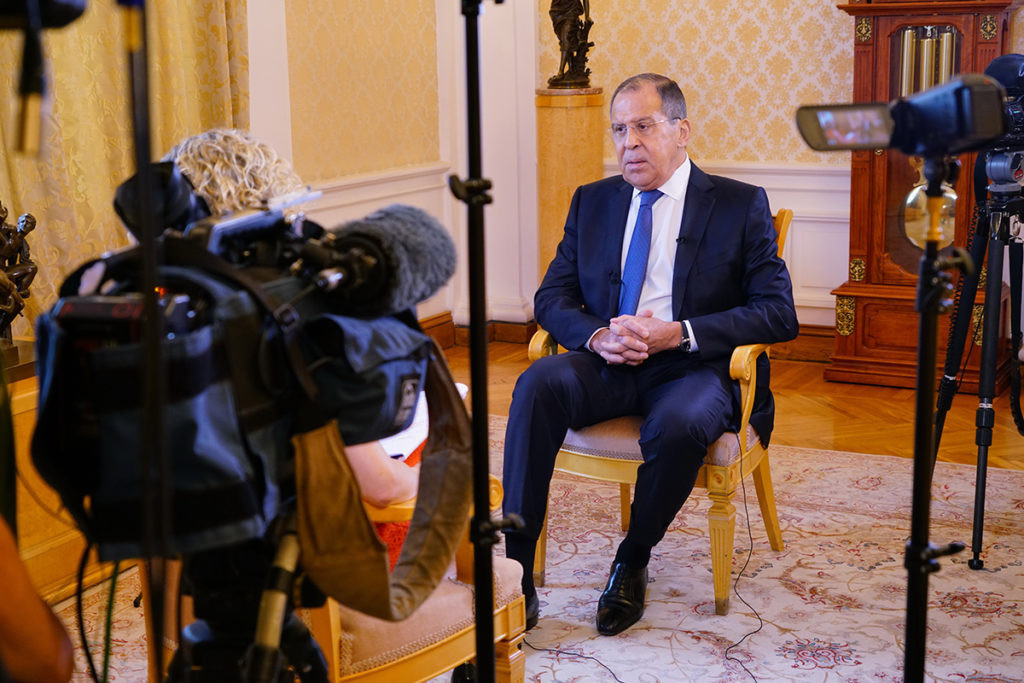 Russian Foreign Minister's Interview On Conflict In Syria And Upcoming Putin-Trump Meeting