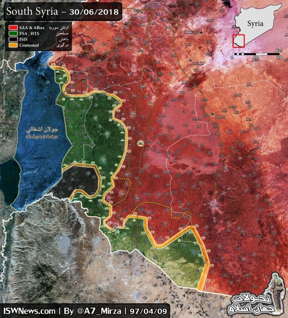 Bosra Al-Sham Militants Demand Reconciliation Agreement: Southern Syria Maps