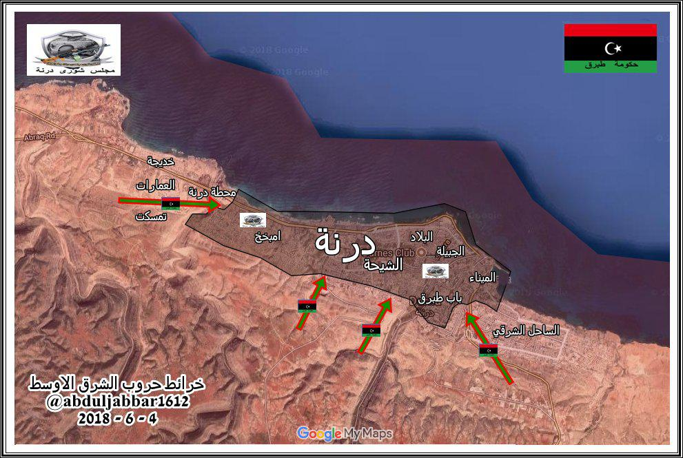 Militants' Defense In Derna Is Slowly Collapsing Under Pressure From LNA (Maps)