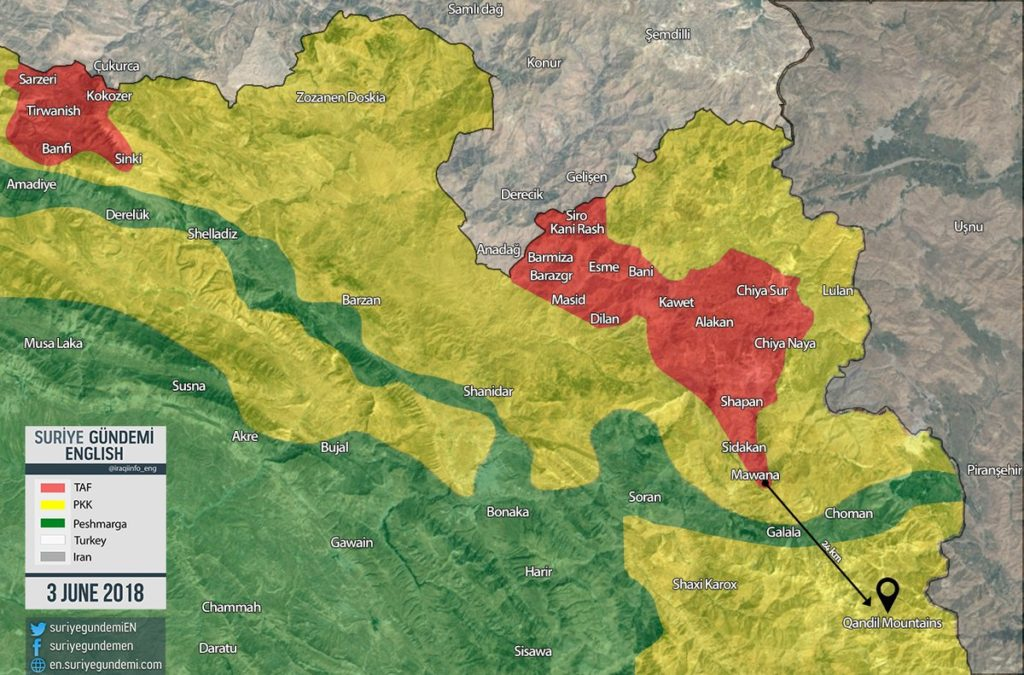 Turkish Forces Enter 27km Deep In Northern Iraq As Ankara Threatens To Launch Advance On Qandil Mountains