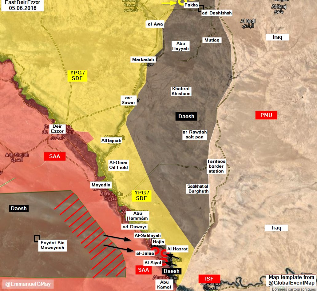ISIS Renews Its Attack Against Syrian Army In Al-Bukamal