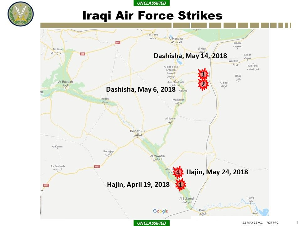Iraqi Air Force Destroys ISIS Command Center In Syria's Hajin