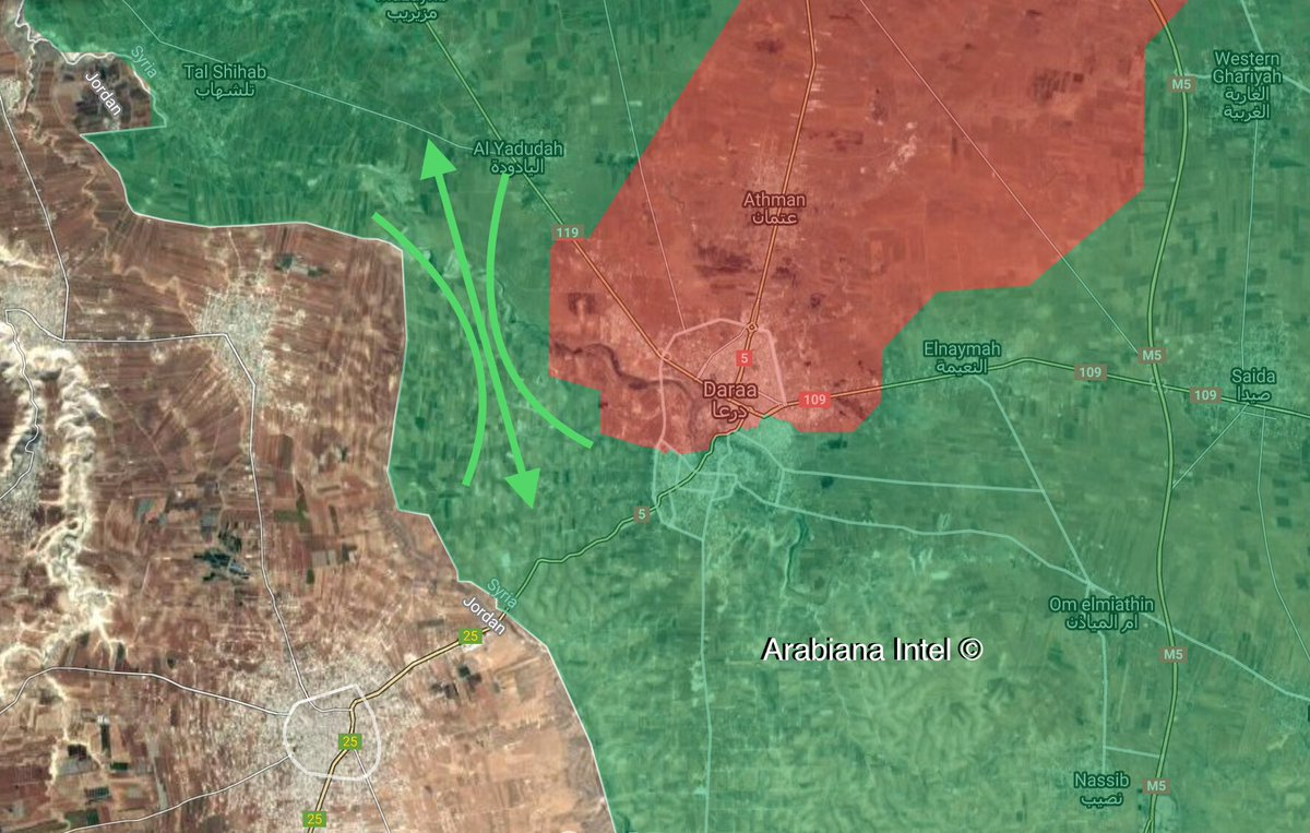 Syrian Military Makes Gains Around Daraa City And In Eastern Countryside (Map)