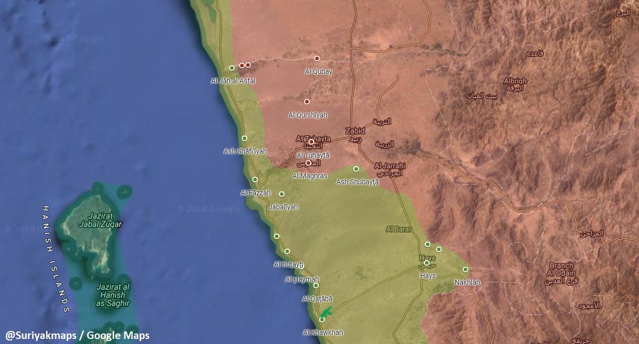 Saudi-led Coalition Captures Al-Faza And Reopens Its Supply Line Along Western Yemeni Coast