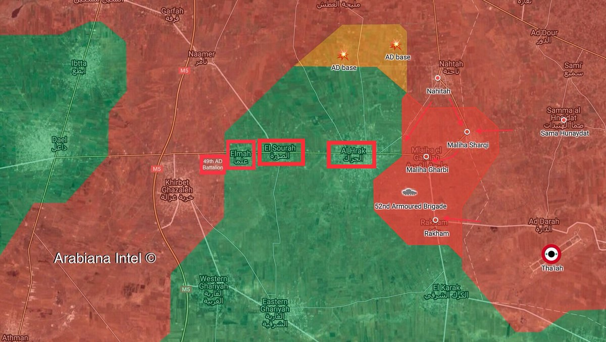Syrian Military Captures Another Town In Eastern Daraa (Map, Videos)