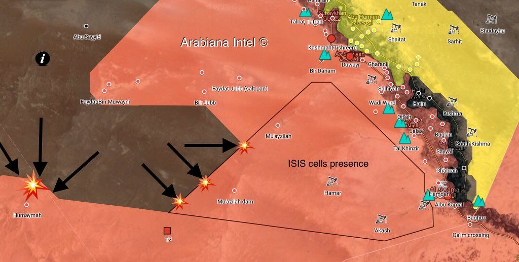 Syrian Army, Hezbollah Repelled ISIS Advance In Humaymah-T2-Muazilah Triangle (Map)