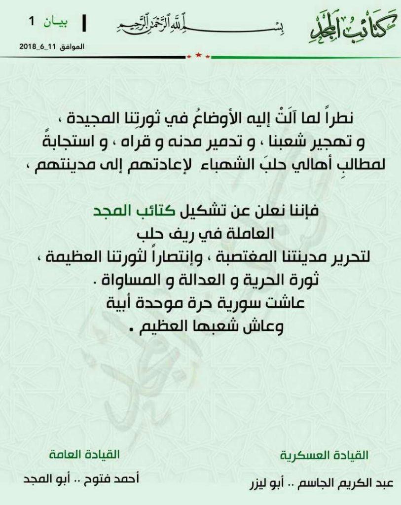 Idlib Militants Go Wild, Create New Group To Capture Aleppo City