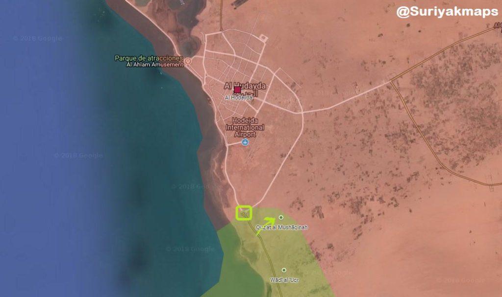 Battle For Yemens Al-Hudaydah On June 15, 2018 (Maps)