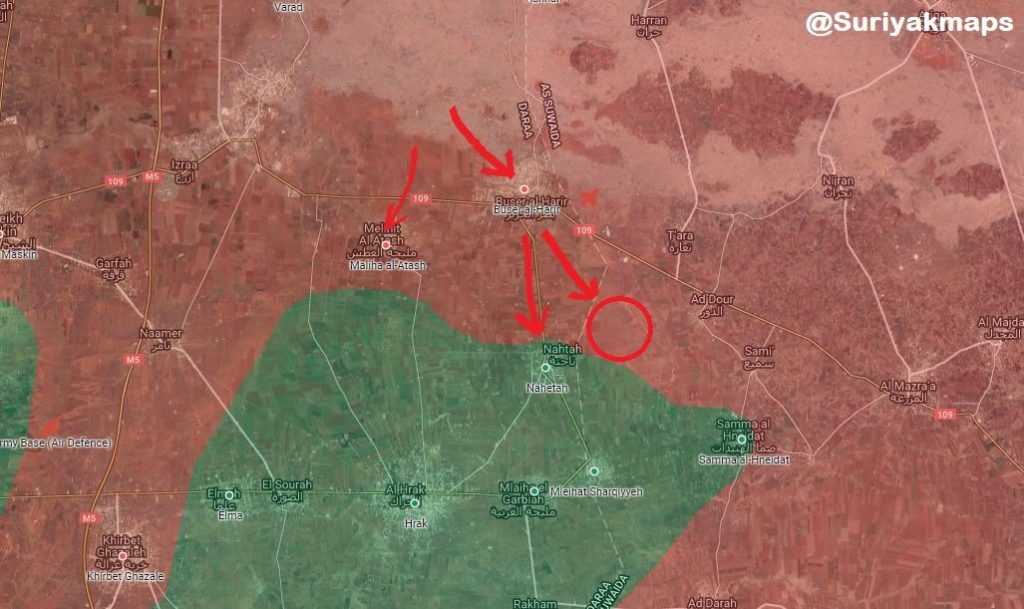In Maps: Government Forces Are Developing Their Operation In Southern Syria
