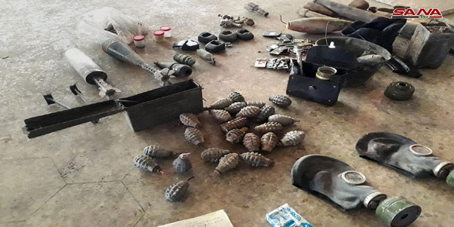 Syrian Security Forces Seize More IEDs And Mines In Liberated Areas Of Southern Damascus (Photos)