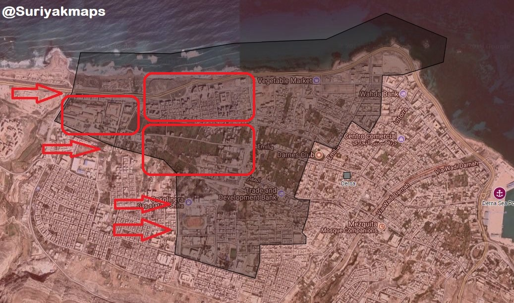 Libyan National Army's Advance To Capture Derna Is At Its Final Stage (Map)