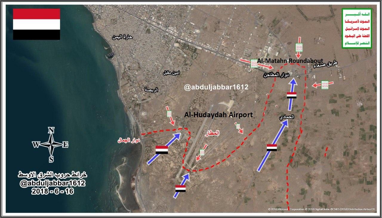 Saudi-led Coalition Advances Northeast Of Al-Hudaydah Airport (Map)