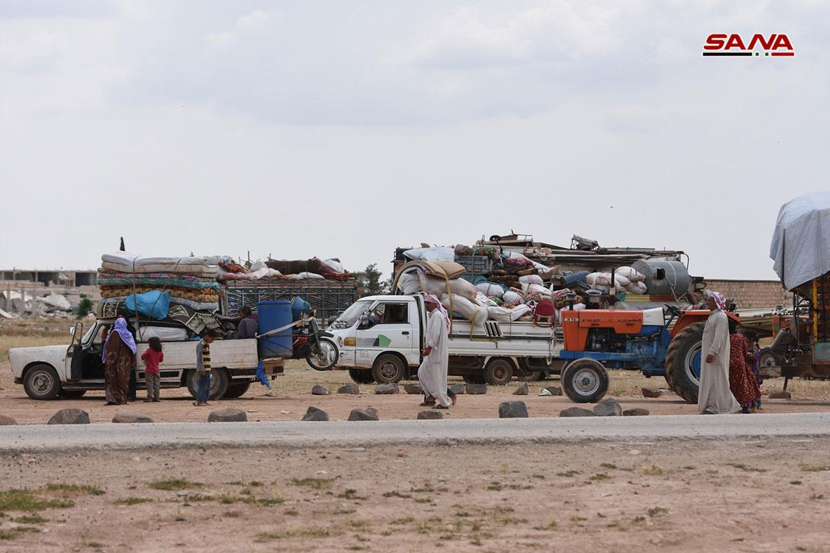 Hundreds Of Civilians Return To Their Villages Around Syria's Abu Duhur Airbase (Photos)