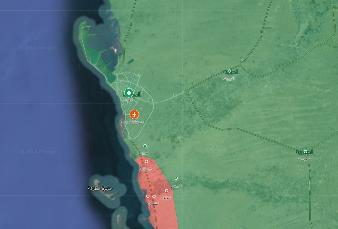 Saudi-led Coalition Captures New Positions South Of Al-Hudaydah Airport (Map, Video)