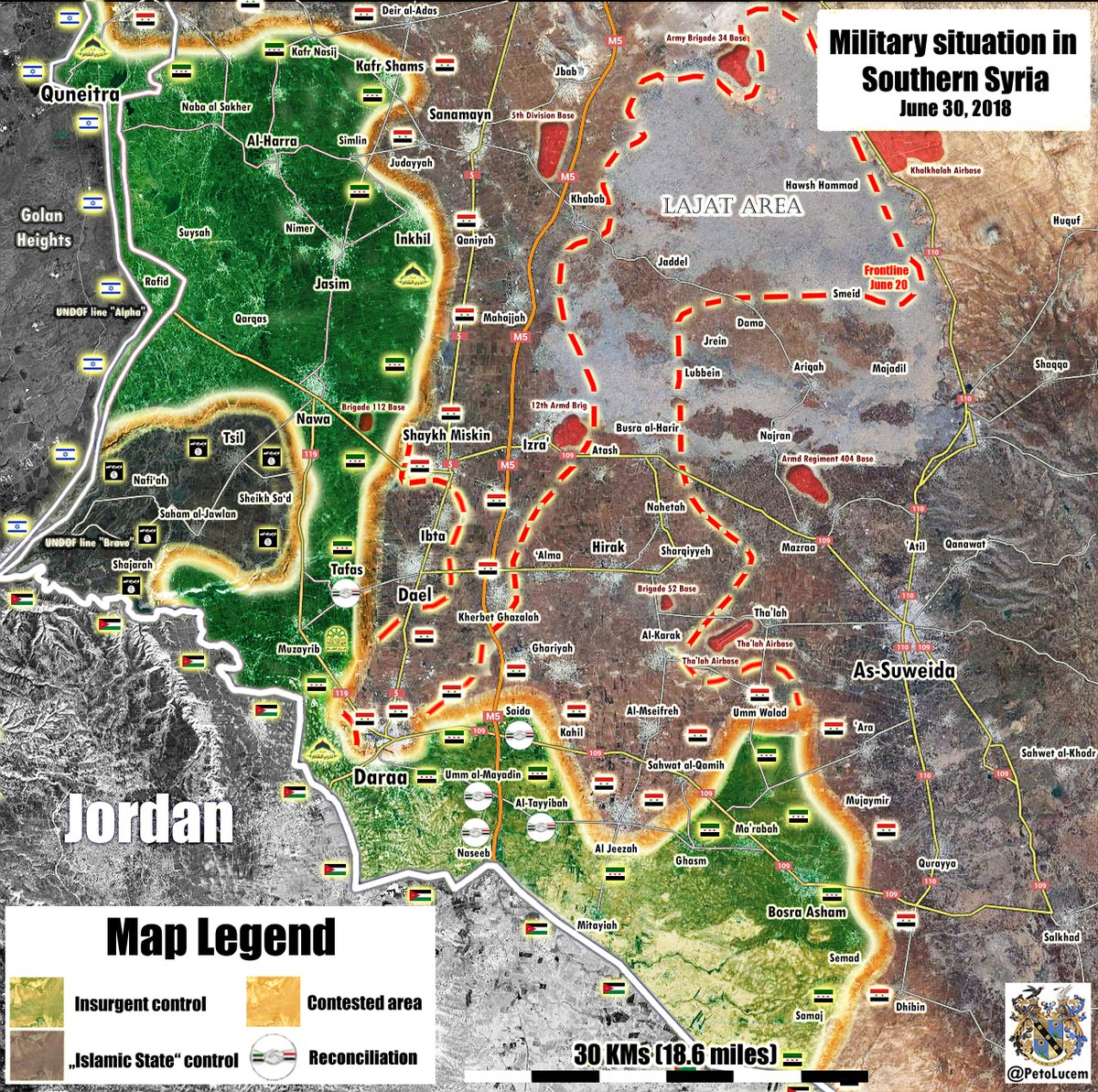 Syrian Military Continues Its Advance In Eastern Daraa, Captures More Villages And Towns (Map)