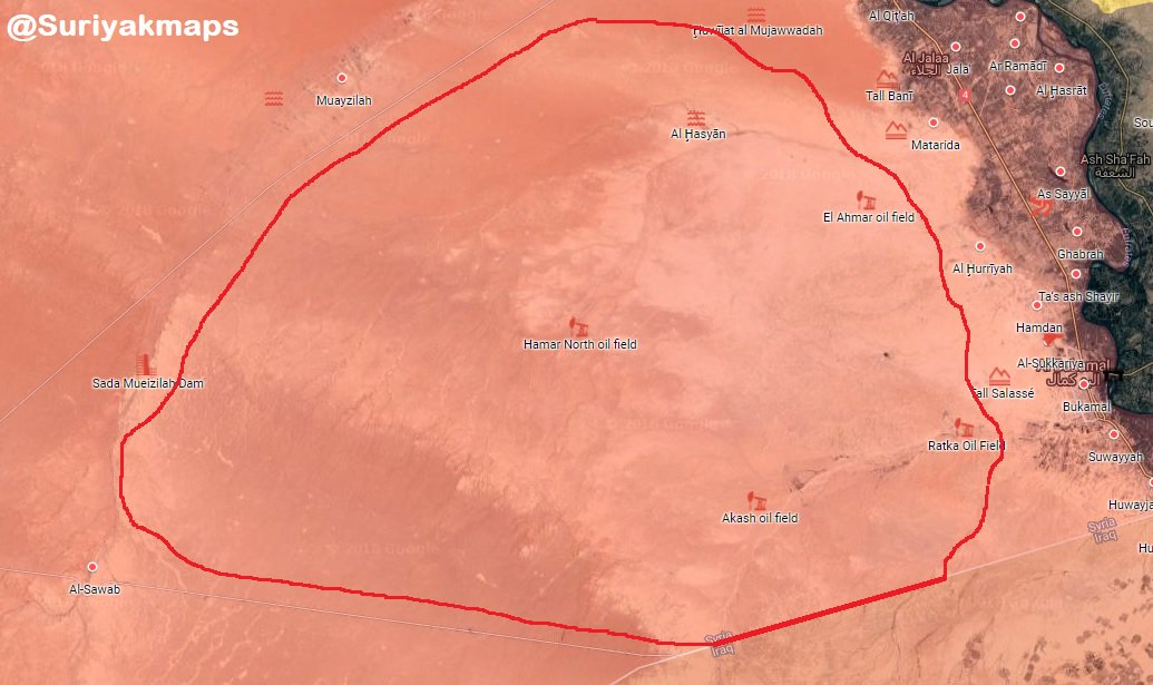 Syrian Military Secures Wide Area West Of Al-Bukamal (Map)