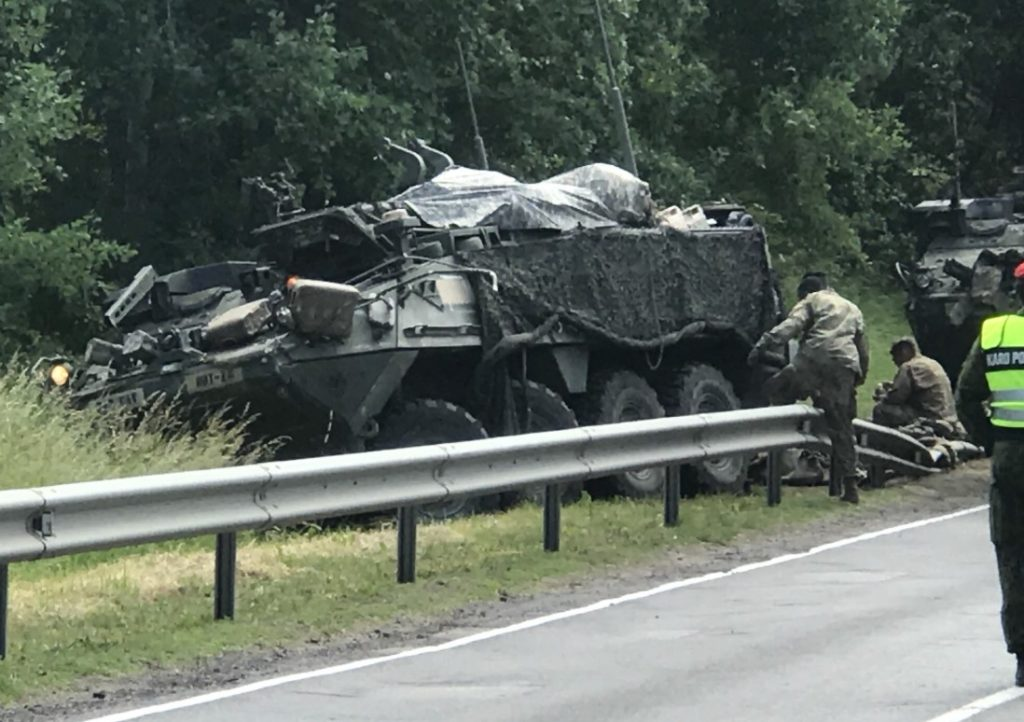 4 US Armoured Vehicles Collide In Lithuania Injuring 13