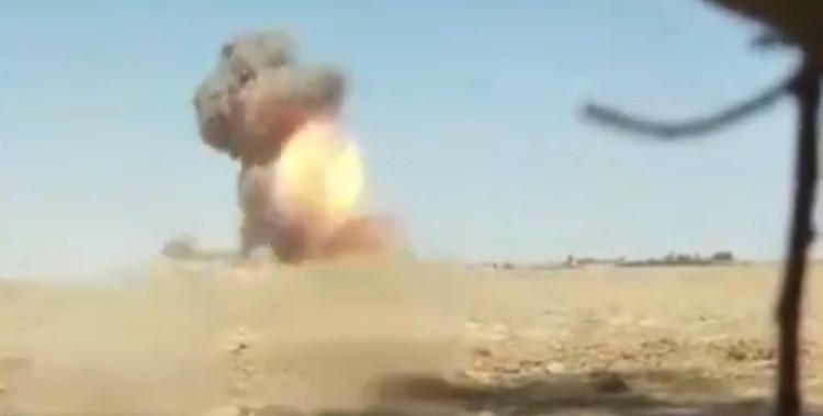 Video: Kurdish Forces Destroy ISIS Car Bomb In Syria's Deir Ezzor Province