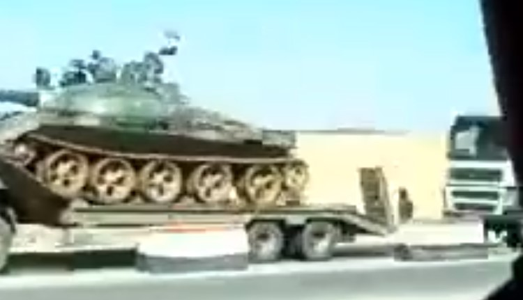 Video: Massive Government Convoy Including Battle Tanks And Artillery Is Heading To Daraa Ahead Of Expected Offensive