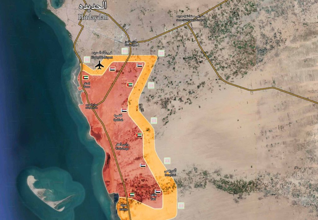 Battle For Yemen's al-Hudaydah On June 25, 2018 (Maps, Video)