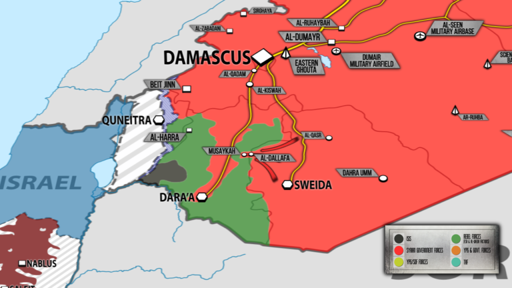 Tiger Forces, Allies Cut Off Imporant Militants' Supply Line In Northeastern Daraa (Map)
