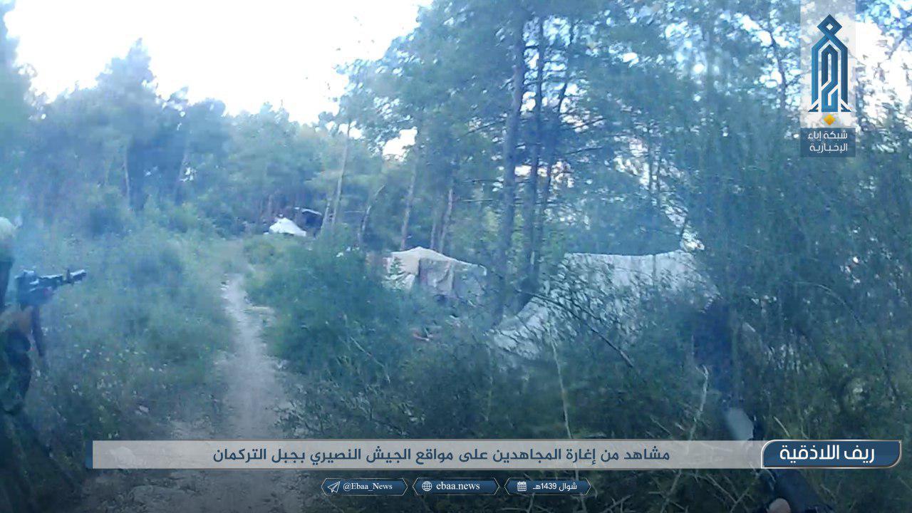 Hay'at Tahrir Al-Sham Elite Forces Attack Syrian Army Position In Northern Lattakia (Photos)