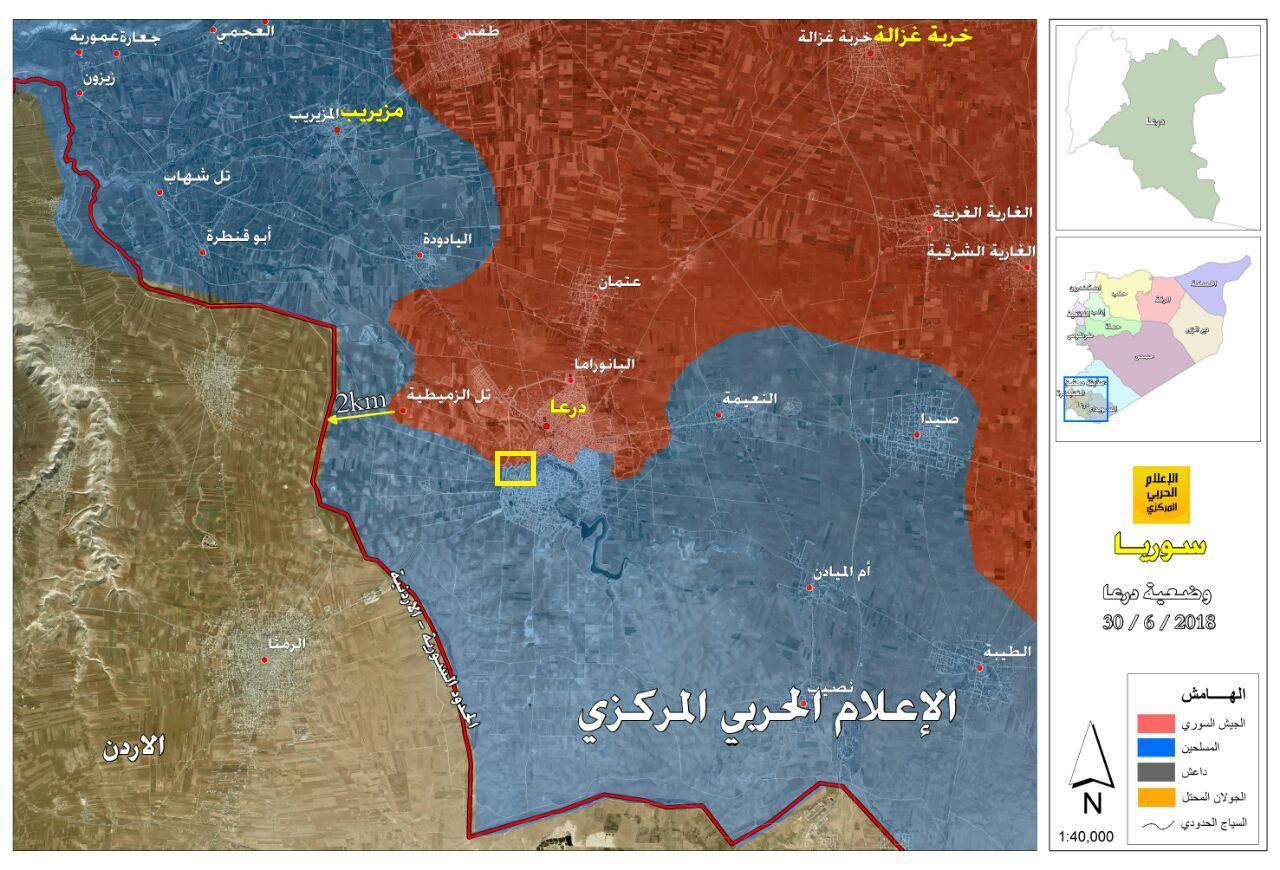 第4装甲部隊がダラア市の地上攻撃を開始(地図、動画)