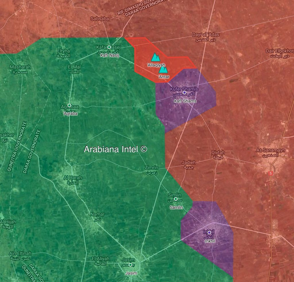 In Maps: Government Forces Expand Control Of Villages North Of Daraa City
