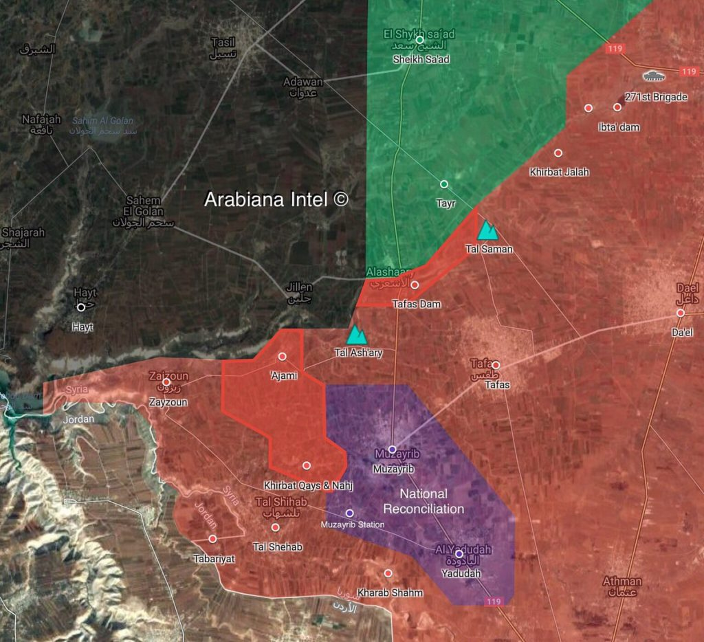 Map Update: Government Forces' Progress In Western Part Of Syrian Province Of Daraa
