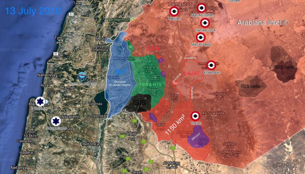 Syrian Army Liberated 1,150 km2 From Militants Since Start Of Operation In Daraa Province (Map)