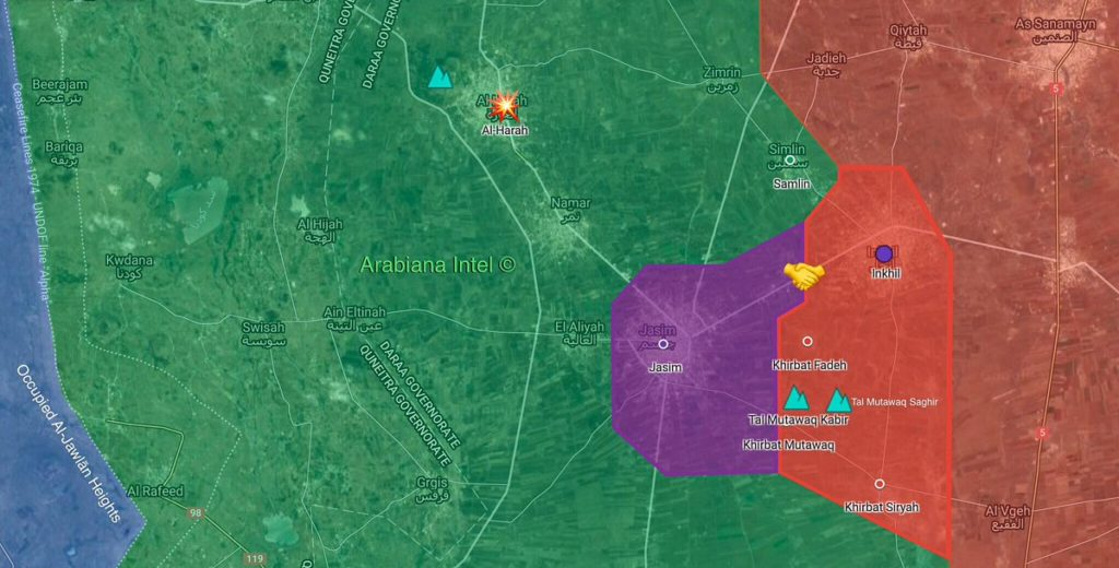 Syrian Army Regains 5 Areas In North Of Daraa City, Advances On Al-Haran (Map)