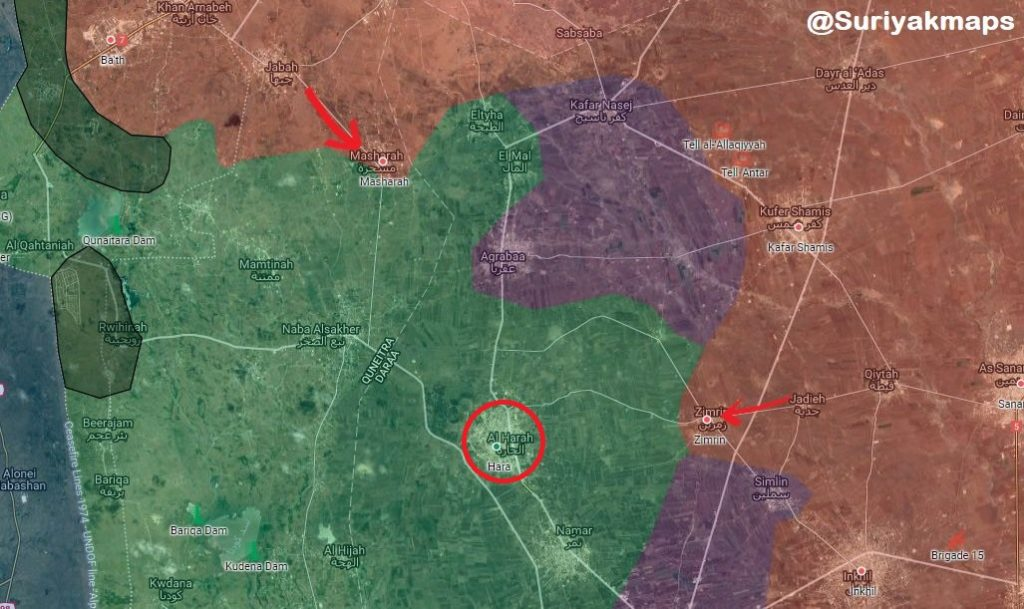 Syrian Army Liberates Al-Harah Town, Other Settlements From Militants In Daraa Province (Map)