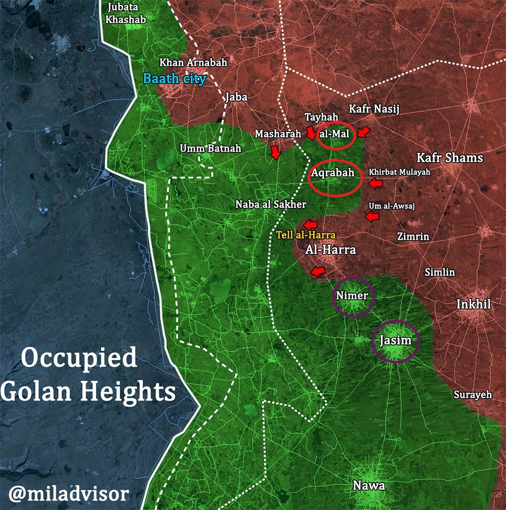 Pro-Government Forces Fully Secured Busra al-Sham and Hrak, Entered Aqrabah In Southern Syria (Map)