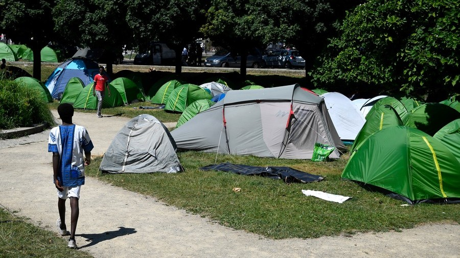 Tensions Are Growing In France's Nantes Following Riots, Establishment Of Improvised Refugee Camp In Public Park