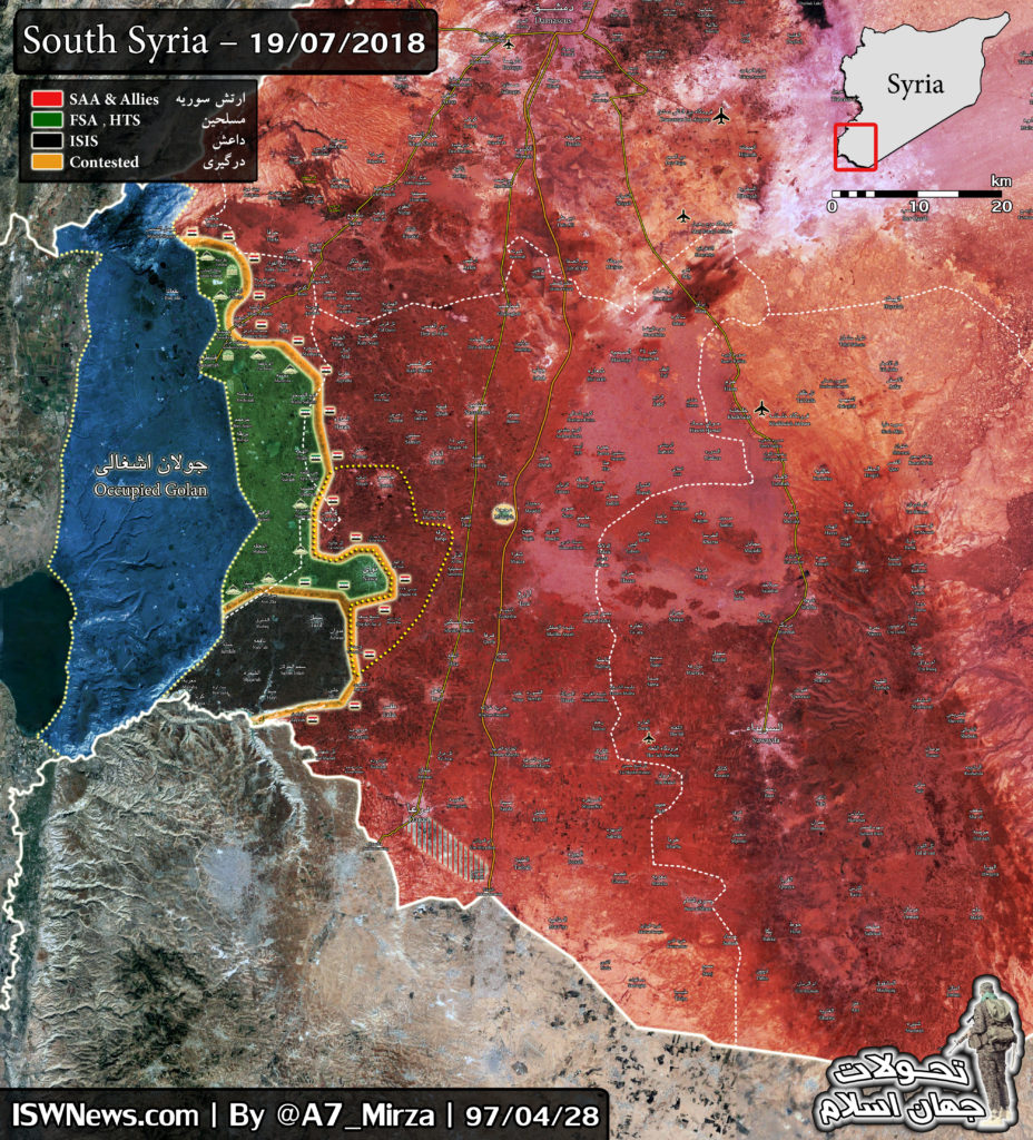 Map Update: Military Situation In Southern Syria On July 19, 2018