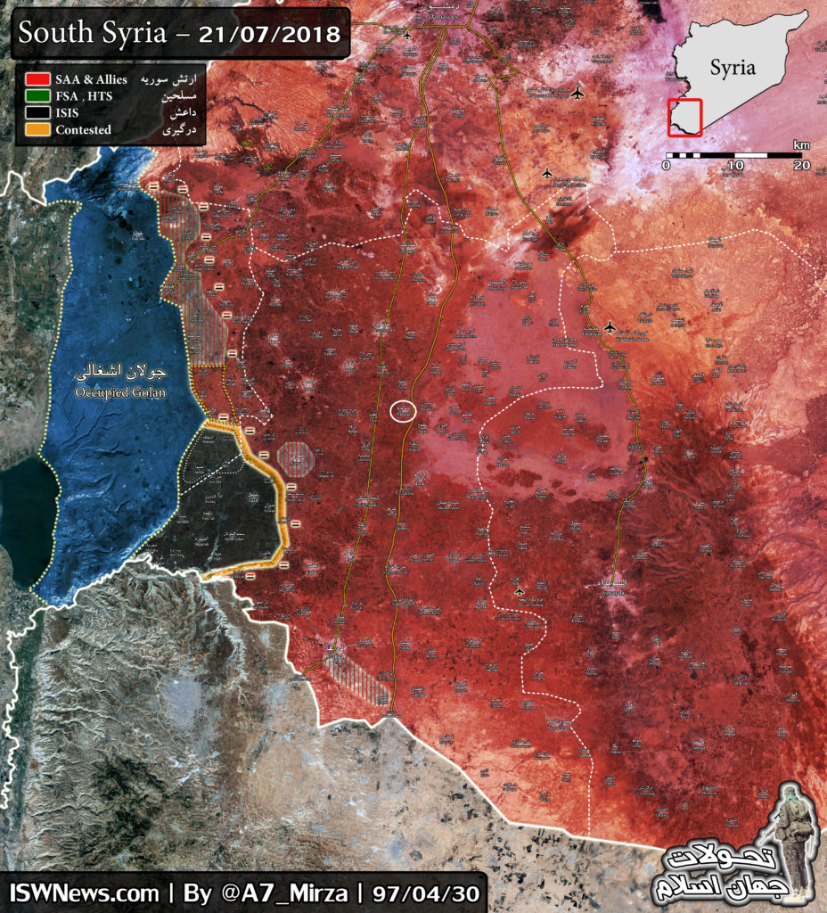 Map Update: Military Situation In Southern Syrian Provinces Of Daraa And al-Quneitra