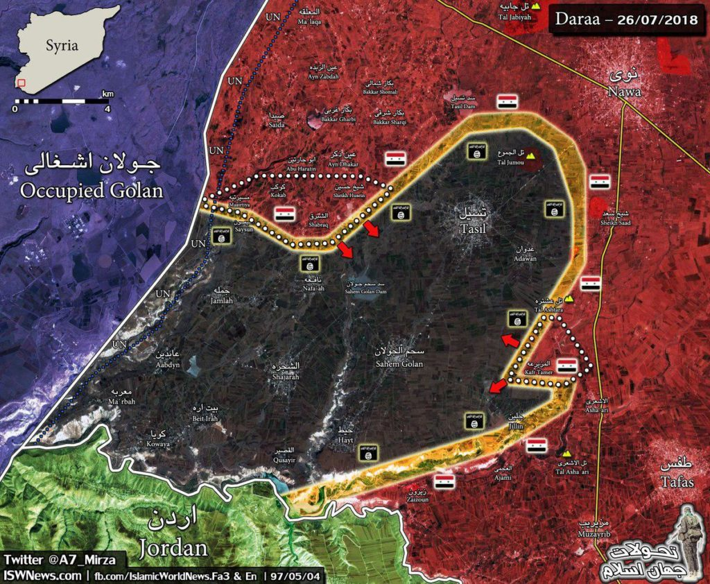 Map Update: Military Situation Northwest Of Daraa City In Southern Syria