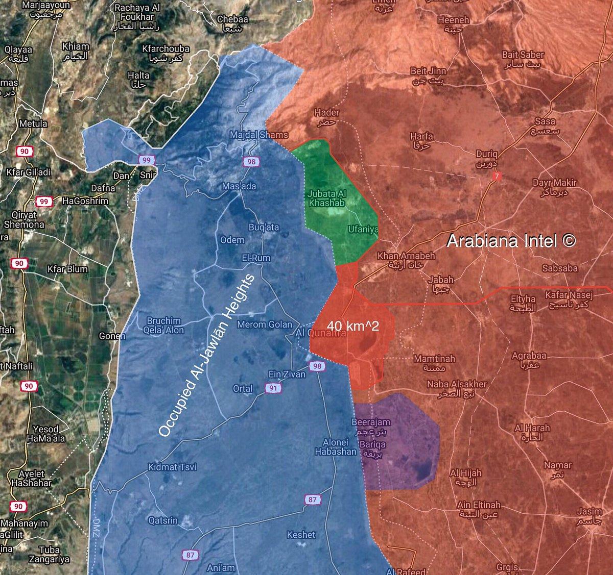 Карта Кунейтры после эвакуации боевиков