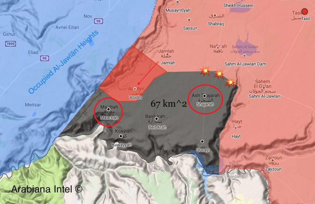 Syrian Army Advances Further East Of Golan Heights, Retakes Maarbah From ISIS (Map)